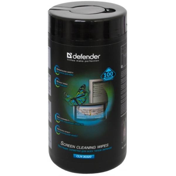 Влажные чистящие салфетки для дисплеев Defender CLN 30320