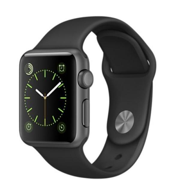 """Часы наручные Apple Watch Sport 38mm (MJ2X2RU/A), сенсорный 1.3"""", для смартфонов, BT, WiFi, NFC,watchOS, серый/черный"""