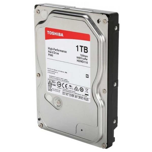"Жесткий диск 3.5"" SATA 1TB Toshiba P300 HDWD110UZSVA, SATAIII, 7200rpm, 64MB cache, NCQ, AF"