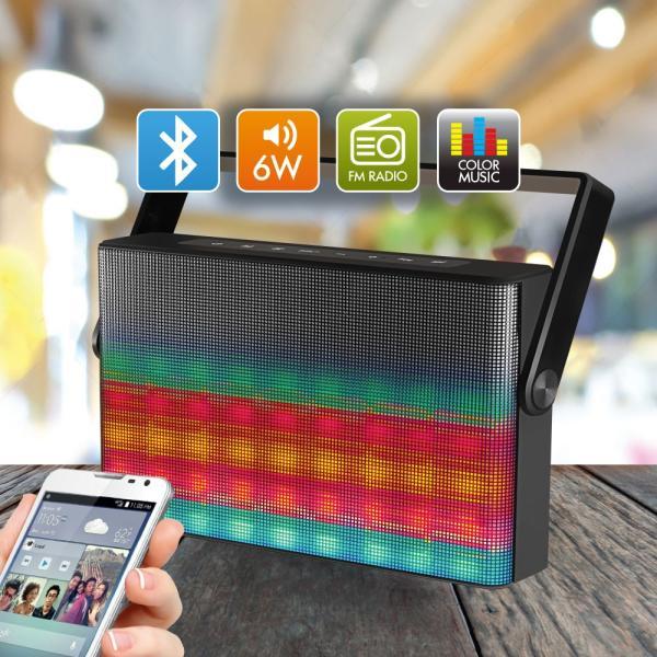Колонки  Bluetooth  мобильные с MP3 плеером Ginzzu GM-896B