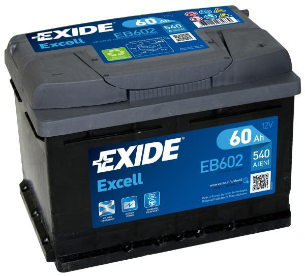 Батарея аккумуляторная автомобильная Exide Excell EB602
