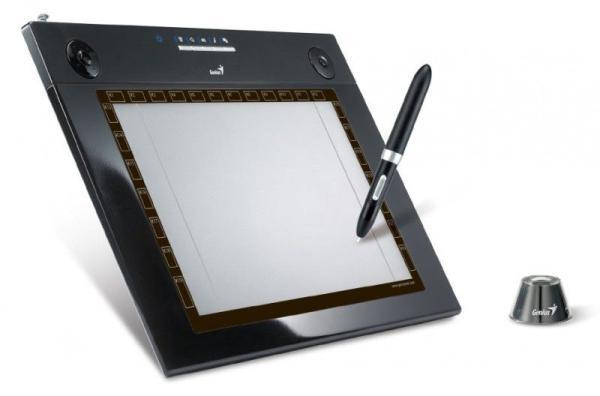 """Планшет Genius G-Pen M609X, USB, 9*5.5""""/23*14см, 4000lpi, 26 кнопок, 2 кольца прокрутки, беспроводное перо: 2 кнопки, чувствительность 1024 уровня"""