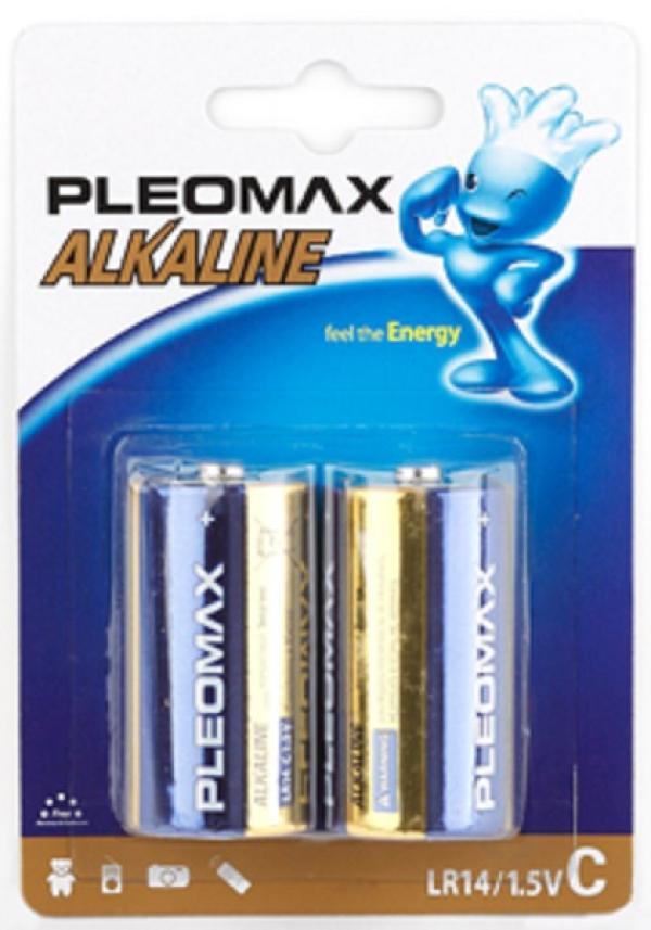 Батарейка C (LR14) алкалиновая Pleomax LR14-2BL