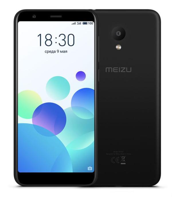"Смартфон 2*sim Meizu M8c, 4*1.4ГГц 16GB, 5.45"" 1440*720, SD-micro/SDHC-micro, 4G/3G, GPS, BT, WiFi, G-sensor, 2 камеры 13/8Мпикс, Android 7, 70*146*8.5мм 140г, черный"