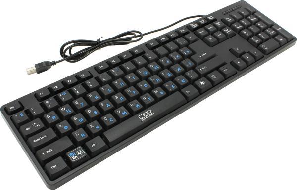 Клавиатура CBR KB 108, USB, кнопка Rus-Lat, черный