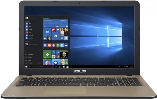 """Ноутбук 15"""" ASUS X540LA-DM1255, Core i3-5005U 2 4GB 500GB 1920*1080 DVD-RW 2кг золотистый-черный"""