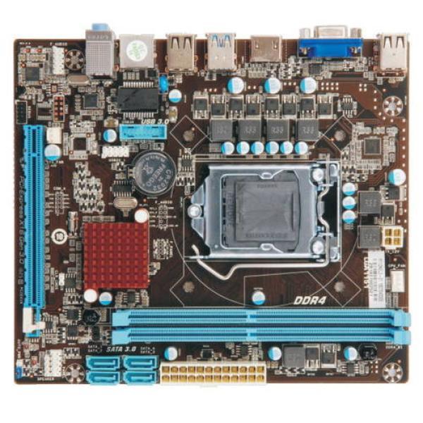 Материнская плата S1151 Esonic H110NEL3, H110, 2*DDR4 2400 Dual Channel, PCI-E3.0x16, HDMI/VGA без видео, 4*SATAIII, Звук 7.1, 4*USB2.0/2*USB3.0, LAN1Gb, mATX