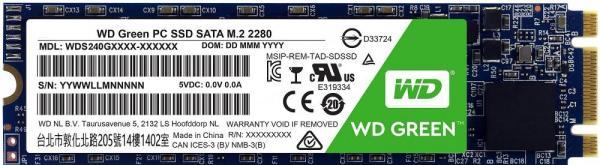 Накопитель SSD M.2  480GB WD WDS480G2G0B