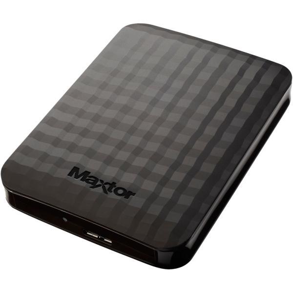 """Жесткий диск внешний 2.5"""" USB3.0 2TB Maxtor STSHX-M201TCBM, 5400rpm, 64MB cache, microUSB B, компактный, черный"""