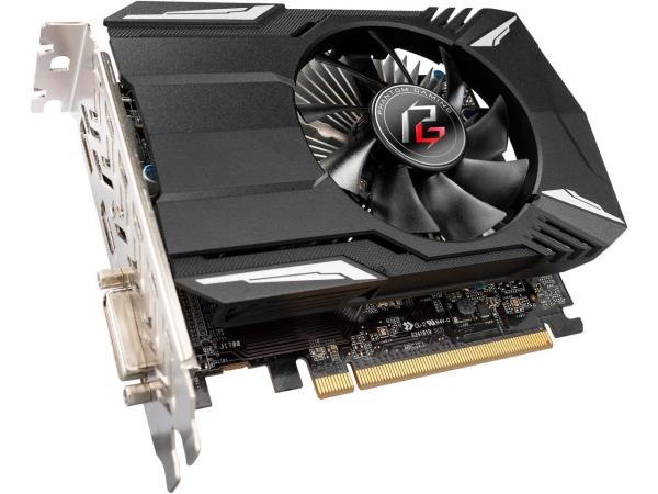 Видеокарта PCI-E Radeon RX 560 ASRock Phantom Gaming (PHANTOM G R RX560 4G), 4GB GDDR5 128bit 1223/7000МГц, PCI-E3.0, HDCP, DisplayPort/DVI/HDMI, Heatpipe, 75Вт