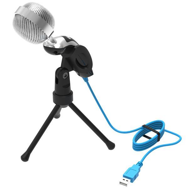 Микрофон на подставке Ritmix RDM-127 USB, 50..16000Гц, кабель 1.5м, USB, конденсаторный, подставка/крепление, черный