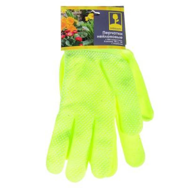 Перчатки INBLOOM, нейлоновые с ПВХ покрытием, 8 размер, 20см, 18гр.