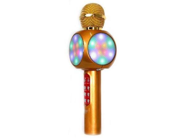 Микрофон караоке беспроводной WS1816 Gold