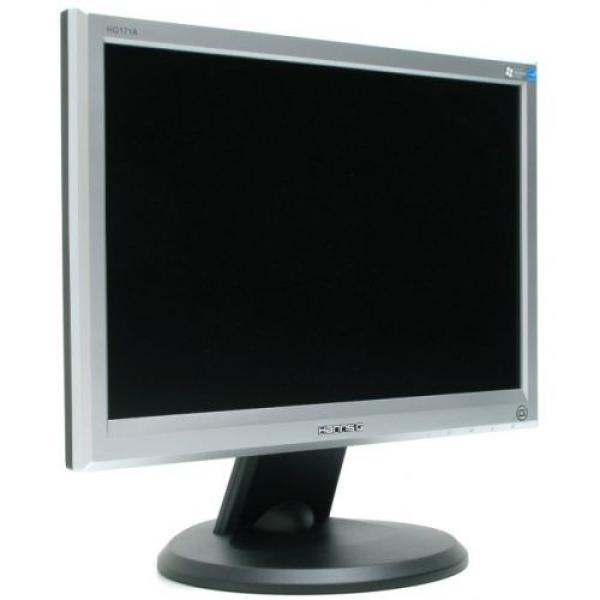 """Монитор ЖК 17"""" Hanns.G JC171D, 1280*1024, 250кд, 500:1, 8мс, 160/140, DVI, серебристый-черный"""