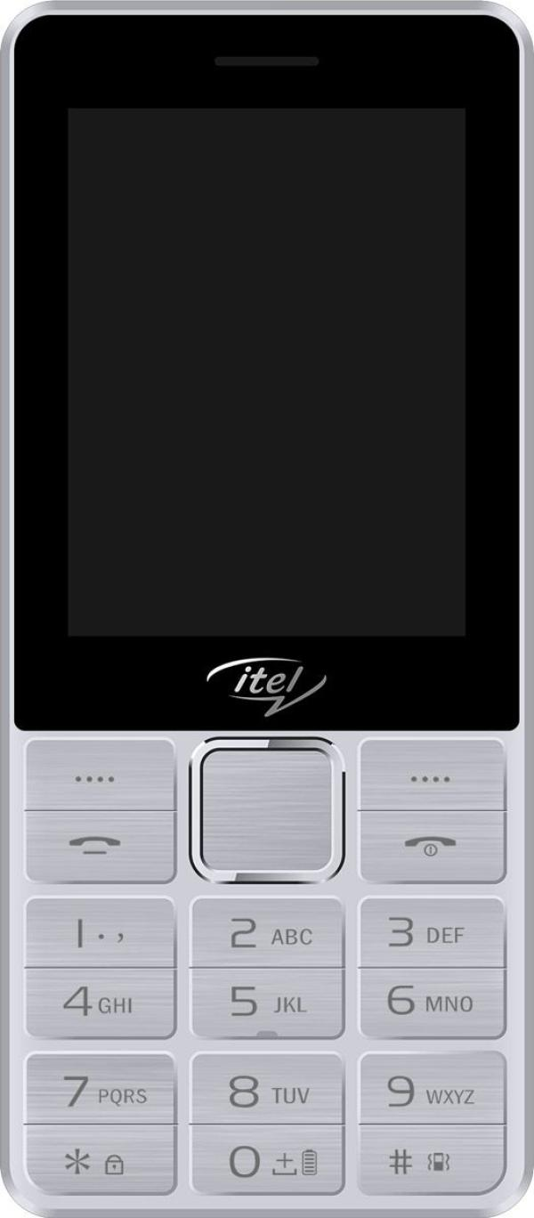 "Мобильный телефон 2*SIM Itel it5630, GSM900/1800/1900/GPRS, 2.8"" 320*240, камера 0.3Мпикс, SDHC-micro, BT, диктофон, MP3 плеер, 59.6*136*13.5мм 198г, серебристый"