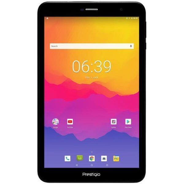 "Планшет  8"" Prestigio MultiPad Grace PMT3738, 1280*800, MTK 1.3ГГц, 8GB, 3G, WiFi, GPS, BT, SD-micro, 2 камеры 2/0.3Мпикс, Android 8.1, 206*122.8*10мм, 360гр, черный"