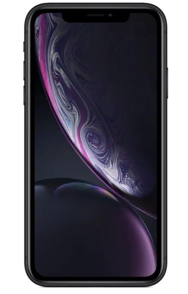 "Смартфон Apple iPhone XR (MRY42RU/A), Apple 6*2.4ГГц, 64GB, 3GB, 6.1"" 1792*828, 4G/3G, GPS, BT, WiFi, NFC, G-sensor, 2 камеры 12/7Мпикс, IP67, 75.7*150.9*8.3мм 194, черный"