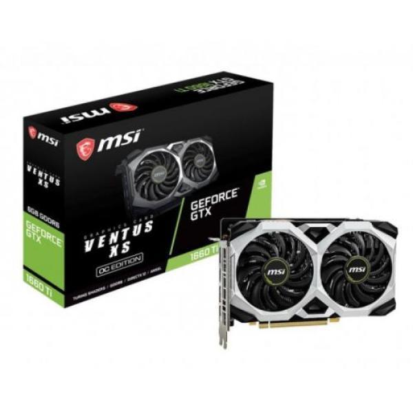 Видеокарта PCI-E Gf GTX1660 Ti MSI VENTUS XS 6G OC