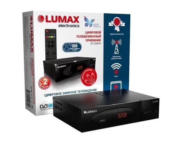 Приставка для цифрового эфирного ТВ DVB-T2 Lumax DV3208HD