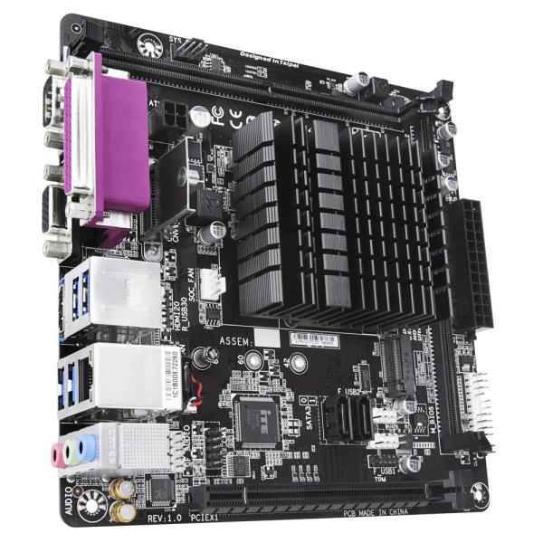 Материнская плата  с процессором GIGABYTE J4005N D2P, Intel Celeron J4005 2.0 Dual Core, 2DIMM DDR4 2400, PCI-E, HDMI/VGA, 2*SATAIII, M.2, Звук 7.1, 4USB3.1, LAN, COM, LPT, Mini-ITX