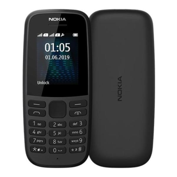 """Мобильный телефон 2*SIM Nokia 105 DS (TA-1174), GSM900/1800/1900, 1.77"""" 160*120, FM радио, 49.5*112*14.4мм 73г, черный"""