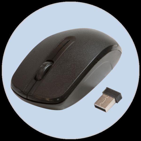 Мышь беспроводная оптическая Ritmix RMW-505, USB, 3 кнопки, колесо, FM 10м, 1000dpi, 2*AA, черный