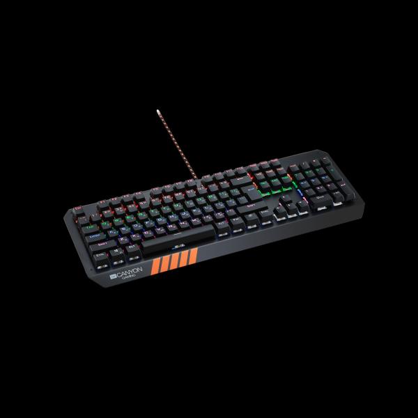 Клавиатура Canyon CND-SKB6-RU, USB, механическая, подсветка, программируемая, черный