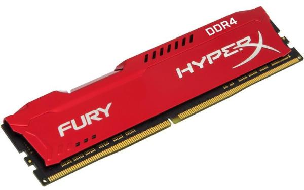 Оперативная память DIMM DDR4  8GB, 3200МГц (PC25600) Kingston HyperX Fury HX432C18FR2/8, 1.2В, радиатор