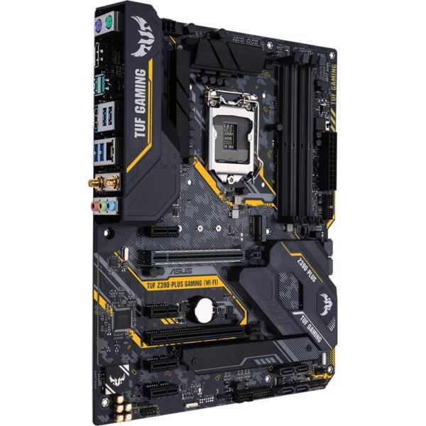 Материнская плата S1151v2 ASUS TUF Z390-PLUS GAMING, Z370, 4*DDR4 3866 Dual Channel, 2*PCI-E3.0x16, 4*PCI-E3.0x1, DVI/HDMI, 4*SATAIII RAID, 2*M.2, Звук 7.1, 2*USB2.0/4*USB3.0, LAN1Gb, ATX