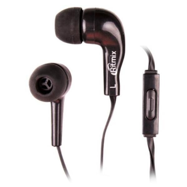 Наушники с микрофоном проводные вставные Ritmix RH-004M