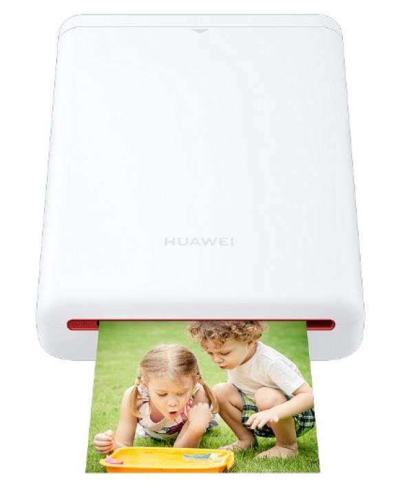 Принтер термо-сублимационный цветной Huawei CV80, 50*76мм, 55 сек/стр, 300dpi, microUSB, Bluetooth 4.1, 500мА*ч, белый