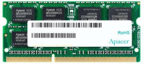 Оперативная память SO-DIMM DDR3  4GB, 1600МГц (PC12800) Apacer AS04GFA60CAQBGJ, 1.35В