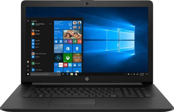 """Ноутбук 17"""" HP 17-ca0129ur (6PX26EA), AMD A6-9225 2.6 4GB 500GB 1600*900 Radeon R4 DVD-RW 2*USB3.0/USB2.0 LAN WiFi BT HDMI камера SD 2.5кг W10 черный"""