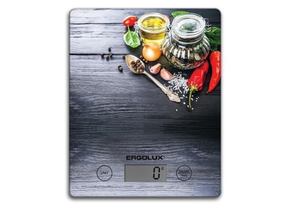 Весы кухонные Ergolux ELX-SK02-С03/C02/C01 (13601)