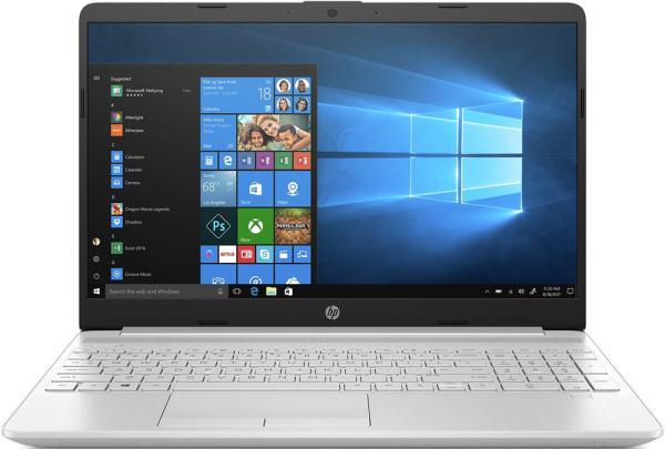 """Ноутбук 15"""" HP 15-dw0040ur (7GU81EA), Pentium 4417U 2.3 4GB 256GB SSD 2*USB3.0 USB-C LAN WFi BT HDMI камера SD 1.82кг W10 серебристый"""