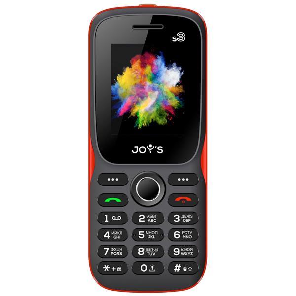 """Мобильный телефон 2*SIM Joy's S3, GSM850/900/1800/1900, 1.77"""" 160*128, камера 0.08Мпикс, 32M, SD-micro, USB, BT, 56.5*130.1*15.1мм 135г, черный-красный"""
