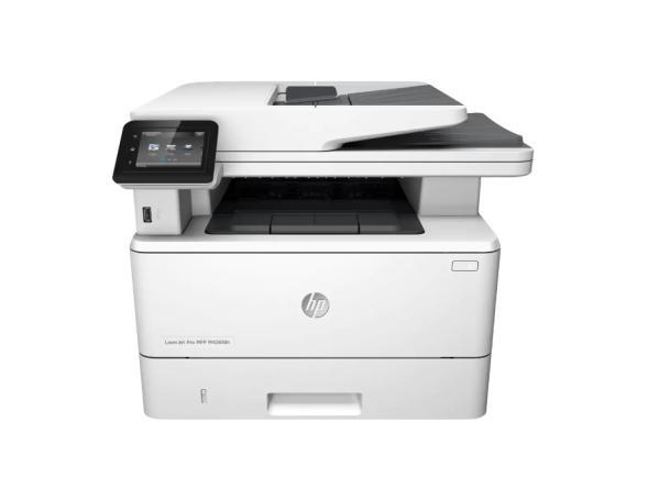 МФУ с факсом лазерное HP LaserJet Pro M426fdn, 38стр/мин, 600dpi, дуплекс, копир 600*400dpi, Zoom 25..400%, автоподатчик, сканер 1200dpi, LAN, USB2.0, ЖК дисплей, 80000стр/мес