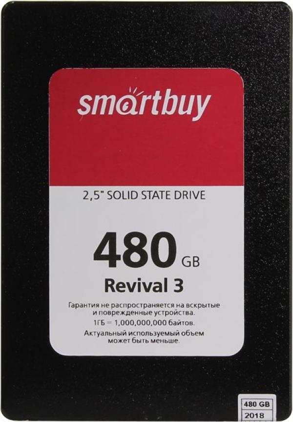 "Накопитель SSD 2.5"" SATA  480GB Smartbuy Revival 3 PS3111 (SB480GB-RVVL3-25SAT3)"