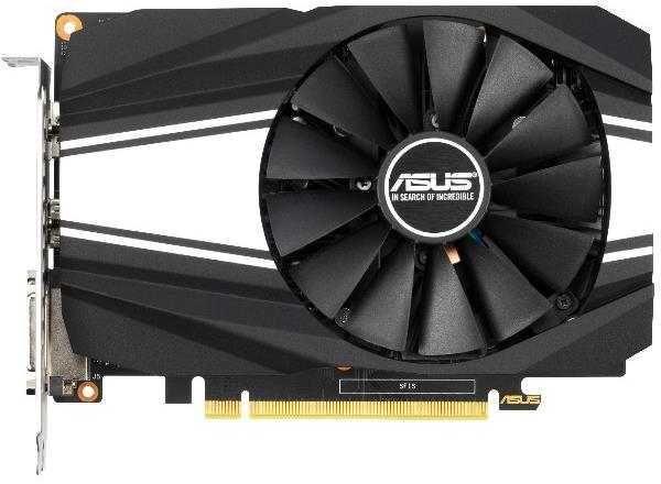 Видеокарта PCI-E GeForce GTX1650 SUPER ASUS PH-GTX1650S-4G, 4GB GDDR6 128bit 1530/12000Гц, PCI-E3.0, HDCP, DisplayPort/DVI/HDMI, 100Вт