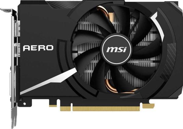Видеокарта PCI-E GeForce GTX1650 SUPER MSI AERO ITX OC, 4GB GDDR6 128bit 1740/12000Гц, PCI-E3.0, HDCP, DisplayPort/DVI/HDMI, 100Вт