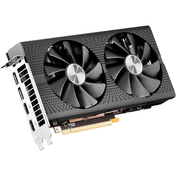 Видеокарта PCI-E Radeon RX 570 Sapphire PULSE, 8GB GDDR5 256bit 1284/7000МГц, PCI-E3.0, HDCP, 2*DisplayPort/2*HDMI, CrossFireX, Heatpipe, 150Вт, 11266-66
