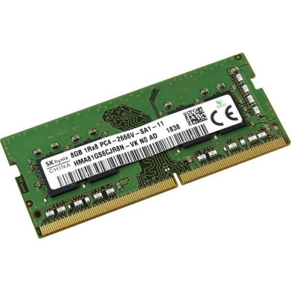 Оперативная память SO-DIMM DDR4  8GB, 2666МГц (PC21280) Hynix HMA81GS6CJR8N, 1.2В