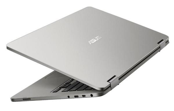 "Ноутбук сенсорный 14"" ASUS TP401MA-EC165R, Pentium N5000 1.1 4GB 128GB SSD 1920*1080 USB3.1 USB-C WiFi BT HDMI SD 1.45кг W10Pro серый"