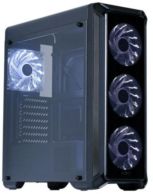 "Корпус ATX MidiTower Zalman i3 Edge, без БП, 0(2)*3.5""+0(5)*2.5"", Audio/2*USB2.0/1*USB3.0, пластик/сталь, 4(6) вент., черный"