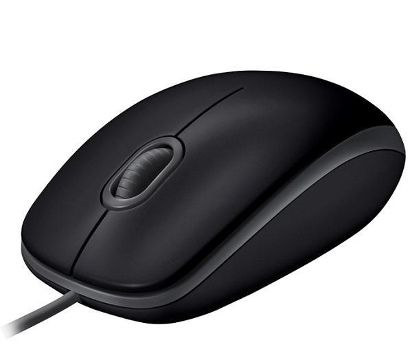 Мышь оптическая Logitech B100 Silent, USB, 3 кнопки, колесо <>, 1000dpi, бесшумная, черный, 910-005508
