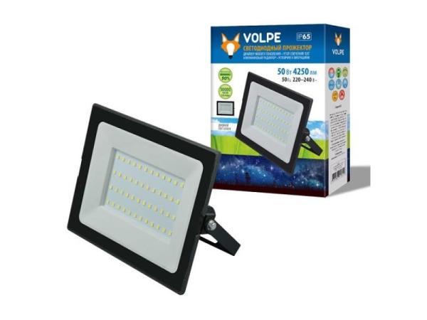 Прожектор светодиодный Volpe ULF-Q513 50W/6500K IP65 220-240В BLACK (UL-00004342)