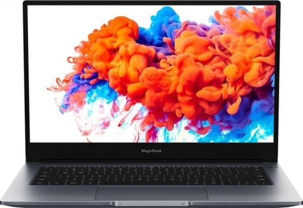 "Ноутбук 14"" HONOR MagicBook 14, Ryzen 5 3500U 2.1 8GB 512GB SSD 1920*1080 IPS USB3.0 USB-C WiFi BT HDMI камера 1.39кг W10 серый"