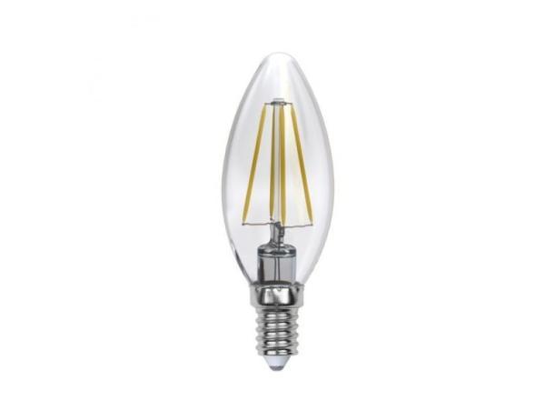 Лампа E14 светодиодная Uniel SKY LED-C35-6W/WW/E14/CL PLS02WH