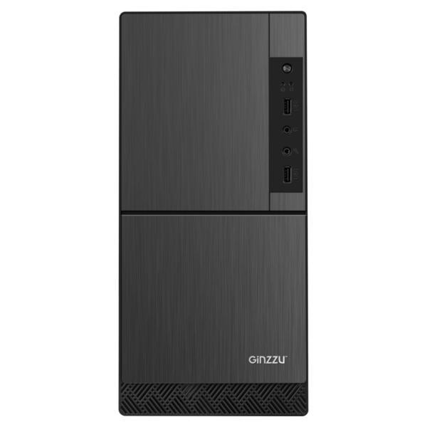 "Корпус ATX MidiTower Ginzzu B190, без БП, 0*5.25""+0(2)*3.5""0(2)*2.5"", Audio/2*USB2.0, 0(2) вент., черный"