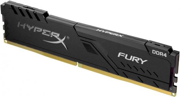 Оперативная память DIMM DDR4  8GB, 2666МГц (PC21280) Kingston HyperX FURY HX426C16FB3/8, 1.35В, радиатор